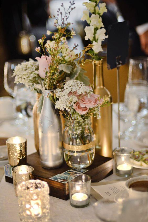 Table Top with Bottle: See Beautiful Ideas to Decorate the Table 41