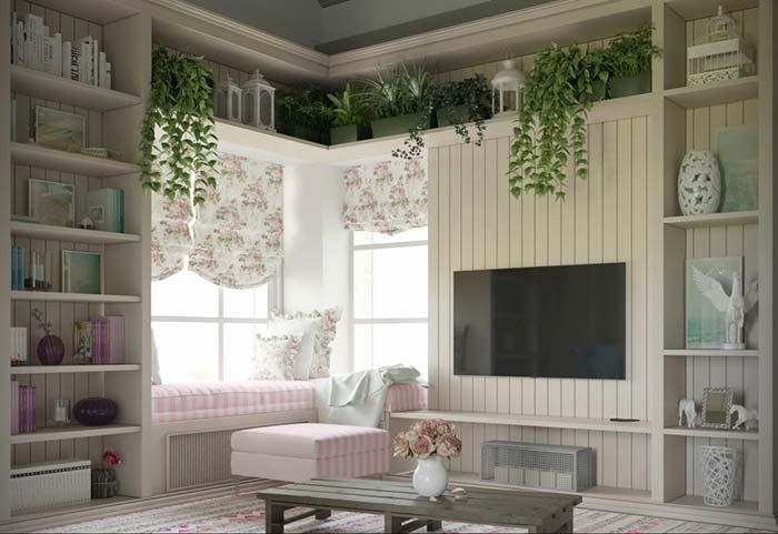 Floral pattern and pink stripes