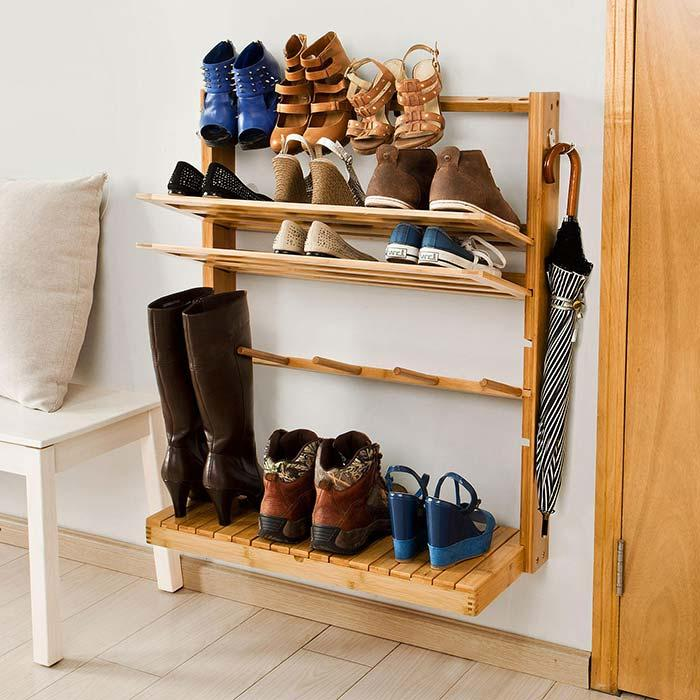 Adjust the height of the shelves with the stand
