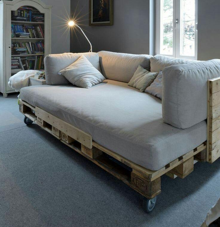 Pallet bed: 60 models, photos and walkthrough 59