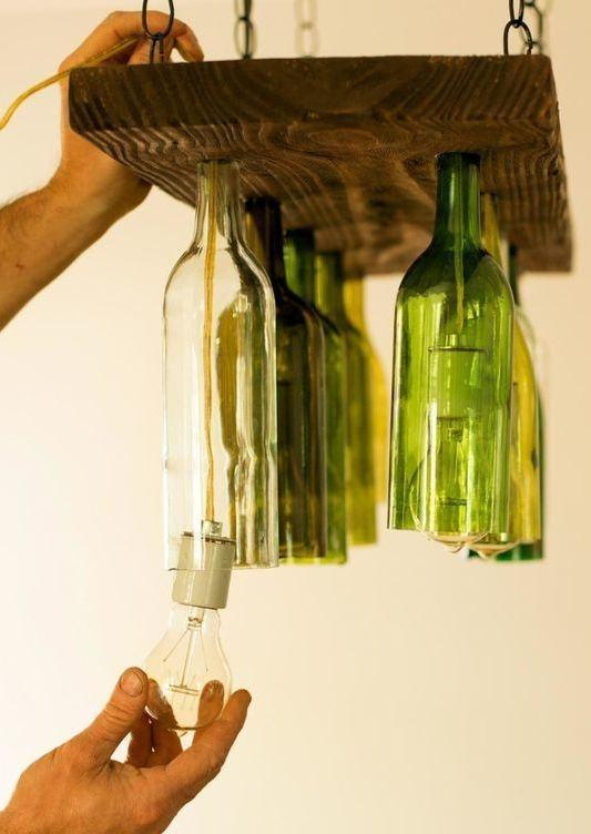 Glass Bottle Craft: 80 Awesome Tips and Photos 42