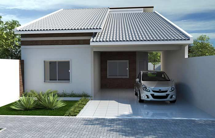 Single storey house with colonial roof