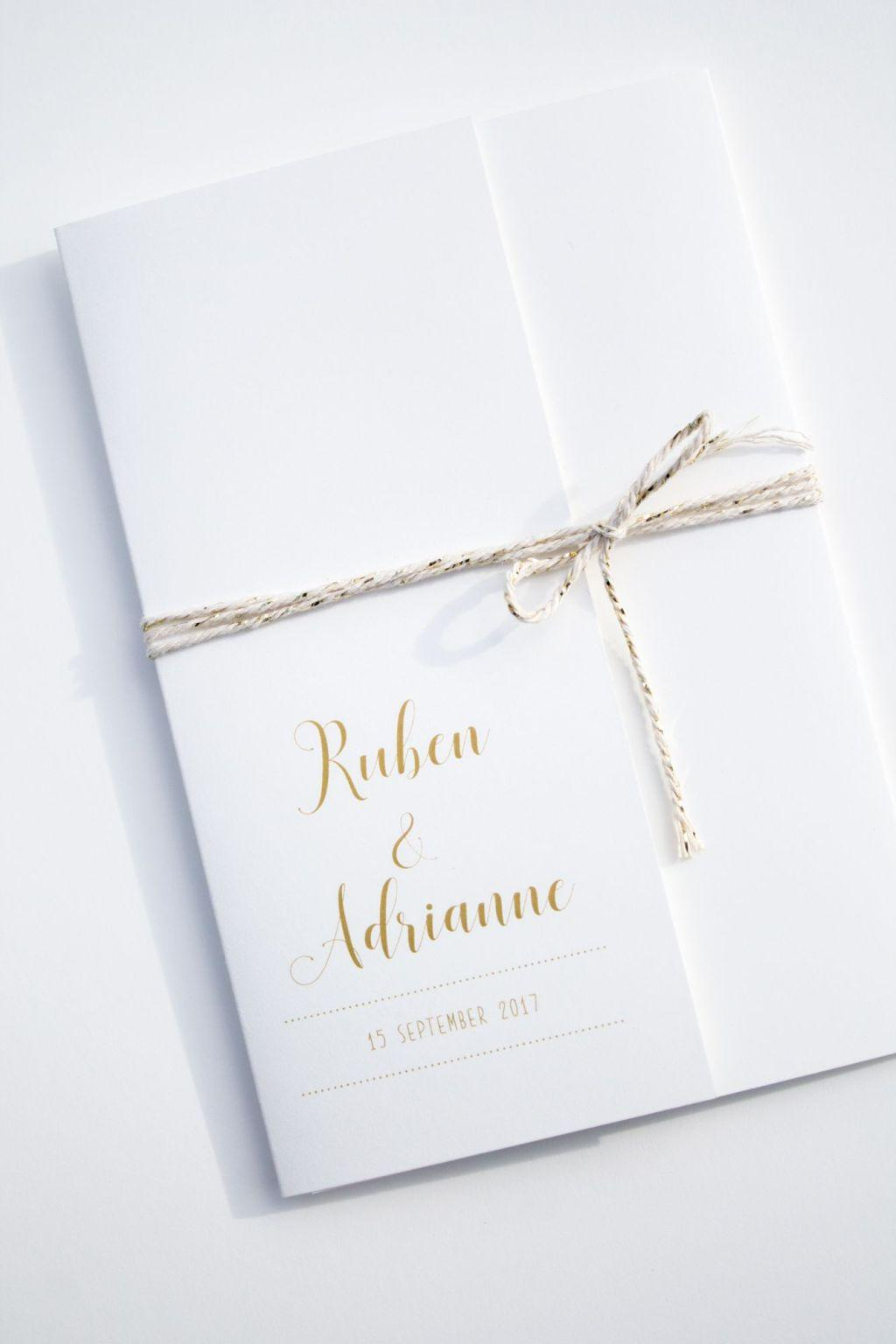 Simple and traditional invitation