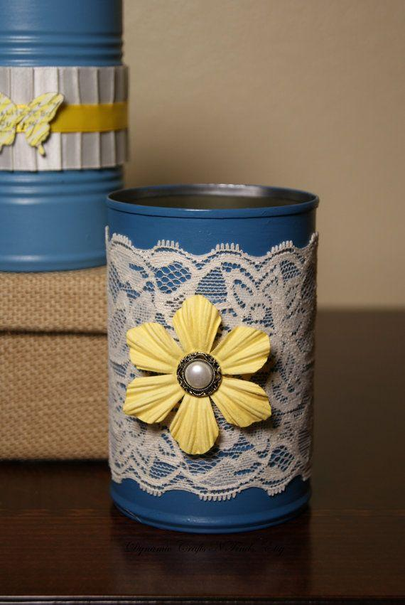 Cans decorated: 70 cool ideas to make at home 20