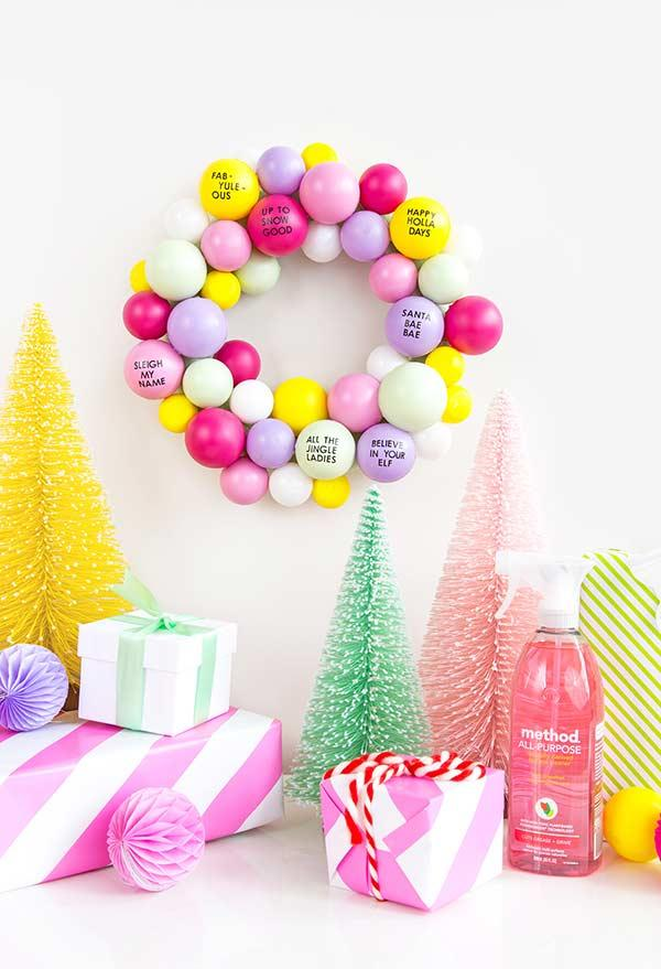 Colorful balls to make a funny garland