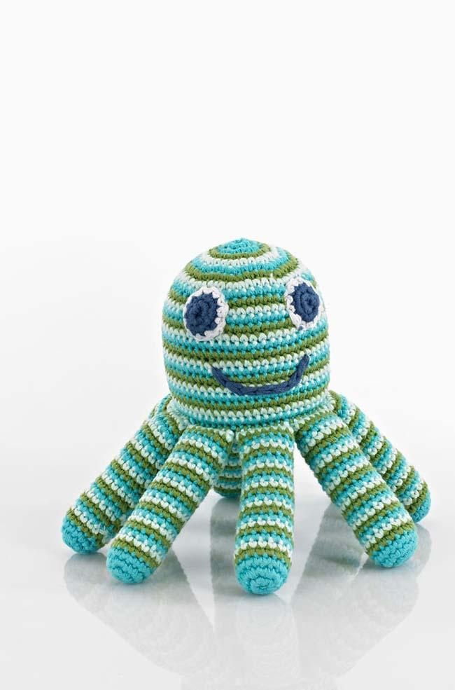 Tentacles with firmer filling in crochet octopus