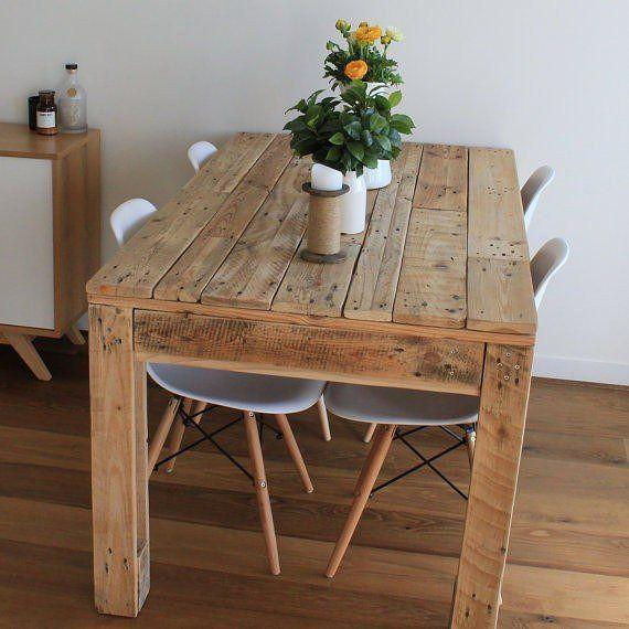 Dining table with wood pallet