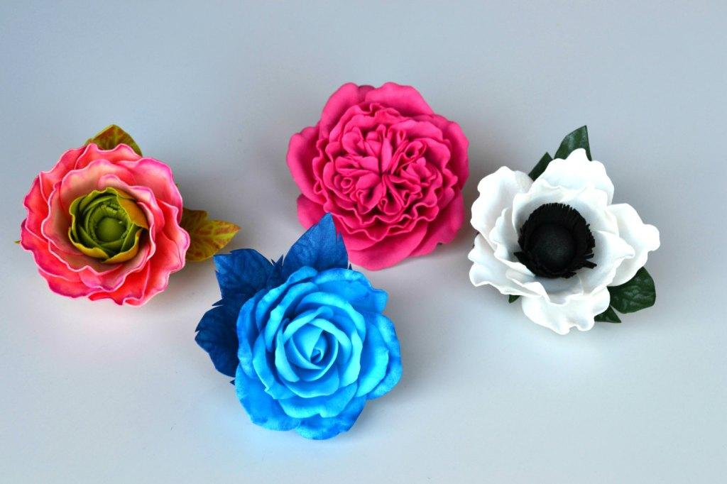 EVA Flowers: 70 ideas, templates and step-by-step 19