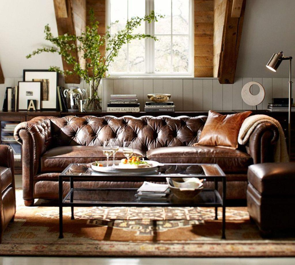 Leather sofa: 70 amazing models to decorate environments 50