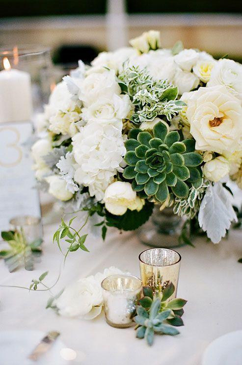 Wedding arrangements: 70 ideas for table, flowers and decoration 17