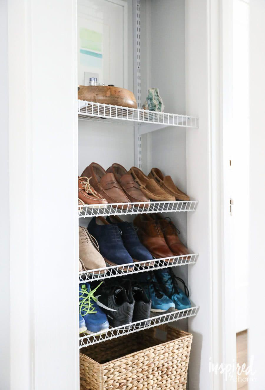 60 ideas and tips on how to organize shoes 58