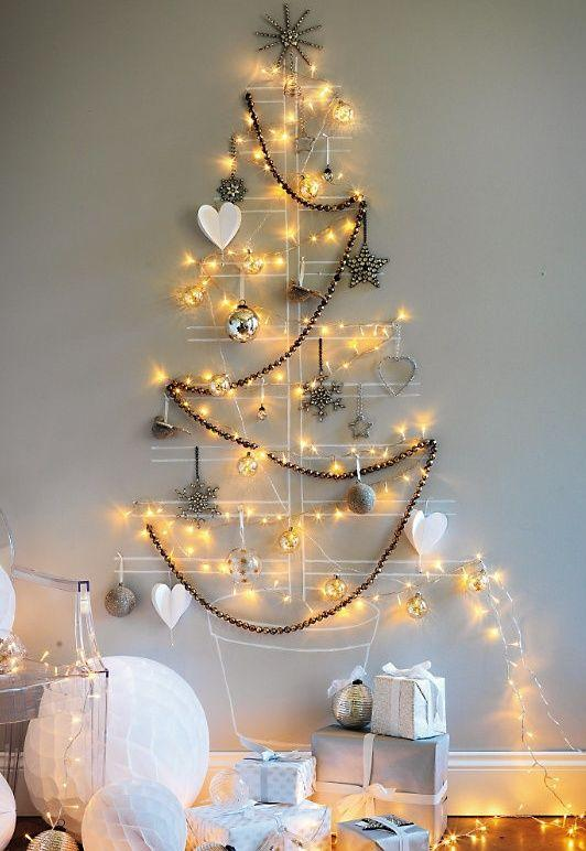 Bilateral decorations for wall tree.