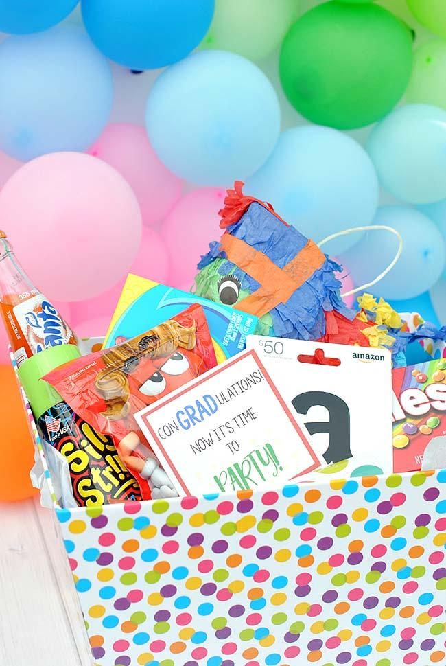 Sweets and treats for party in the box