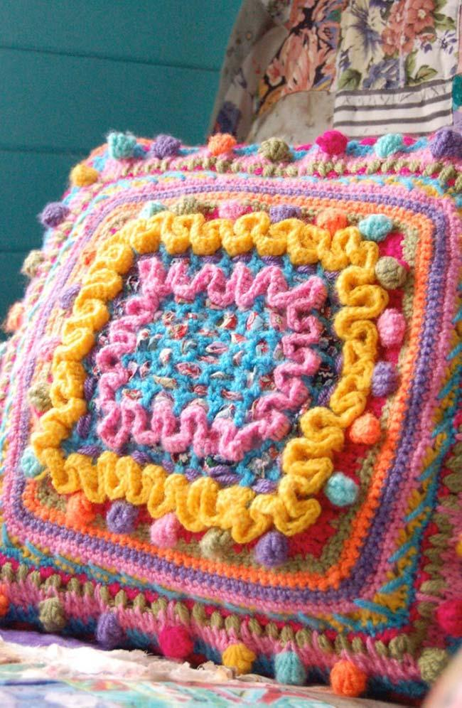 Crochet Cushion Cover for Rustic Decor