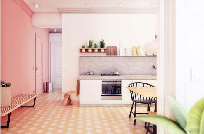 The pink house with pastel shades