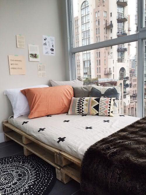 Scandinavian decoration pallet sofa