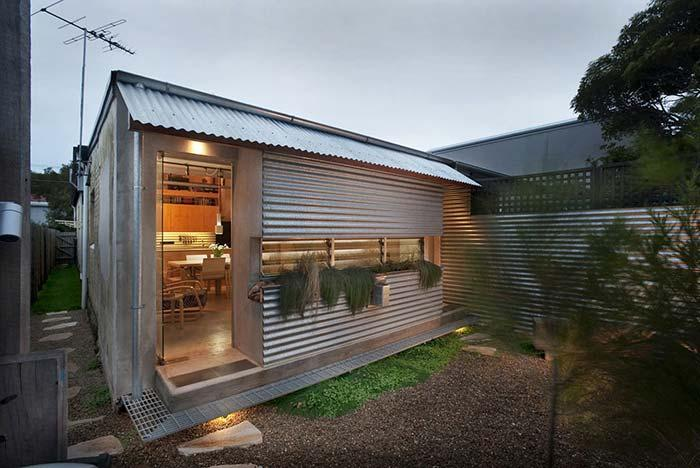 Small house covered with galvanized roof