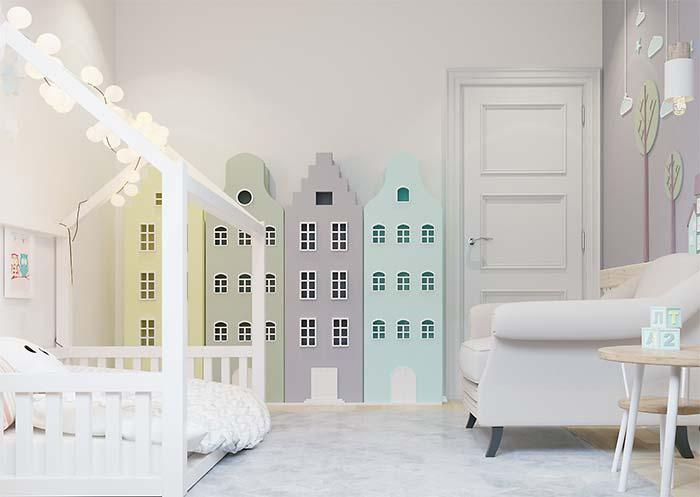 Children's room with modern and Montessorian decor