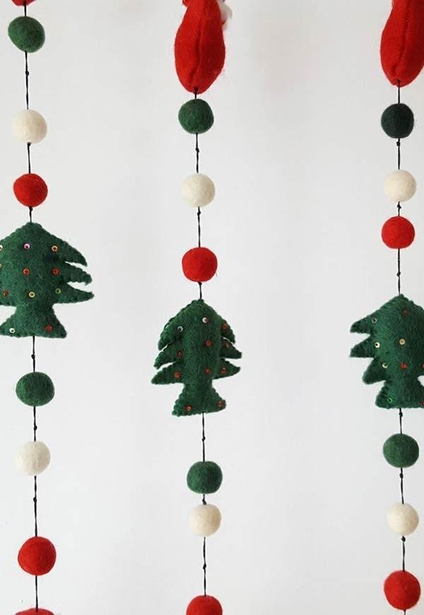 Felt Christmas ornaments: ideas to use in decorating 8