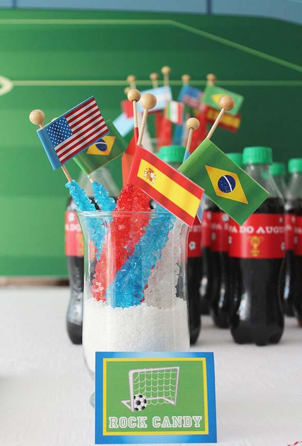 Flags for the world cup decoration