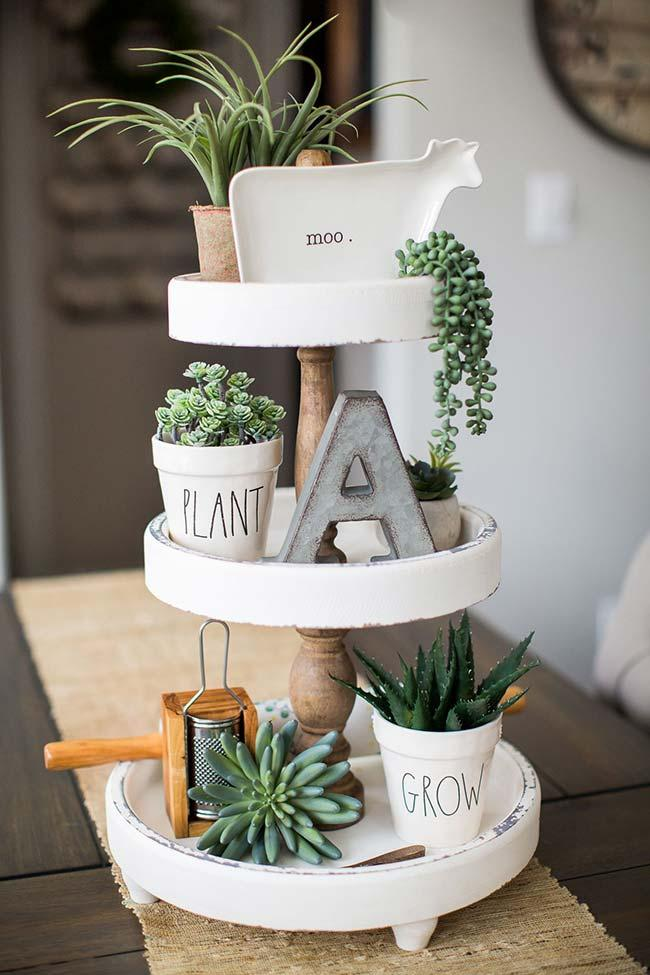 On each floor, a different succulent