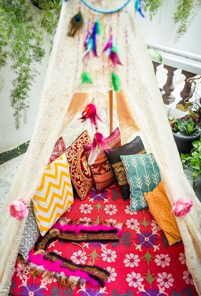 Create a resting tent at your party