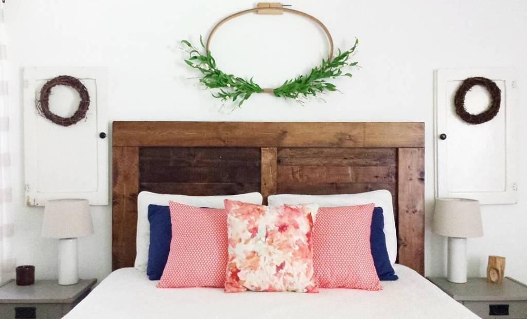 Pallet headboard: 60 creative ideas to use the item in the decoration 3