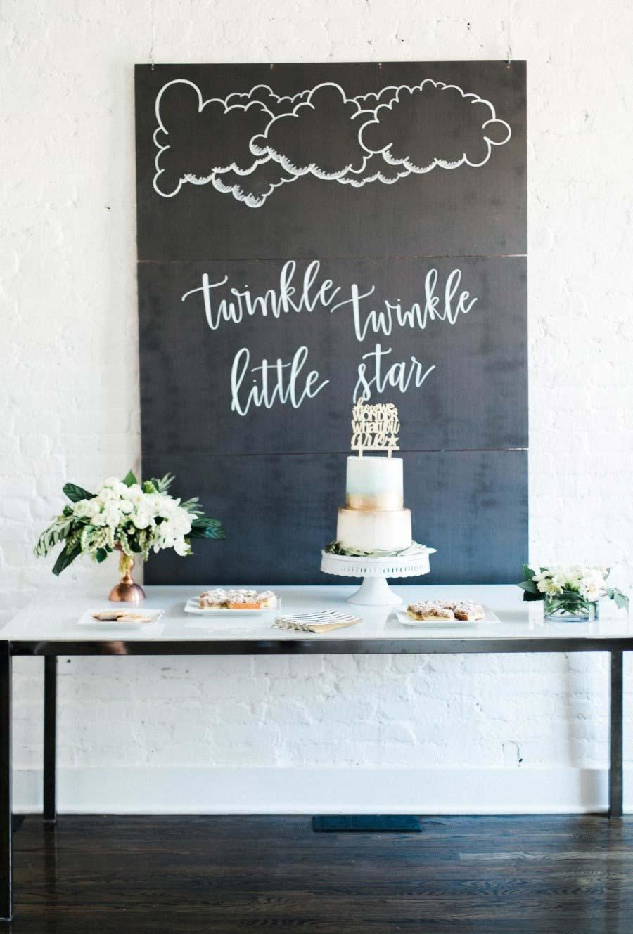 Cake table with slab panel