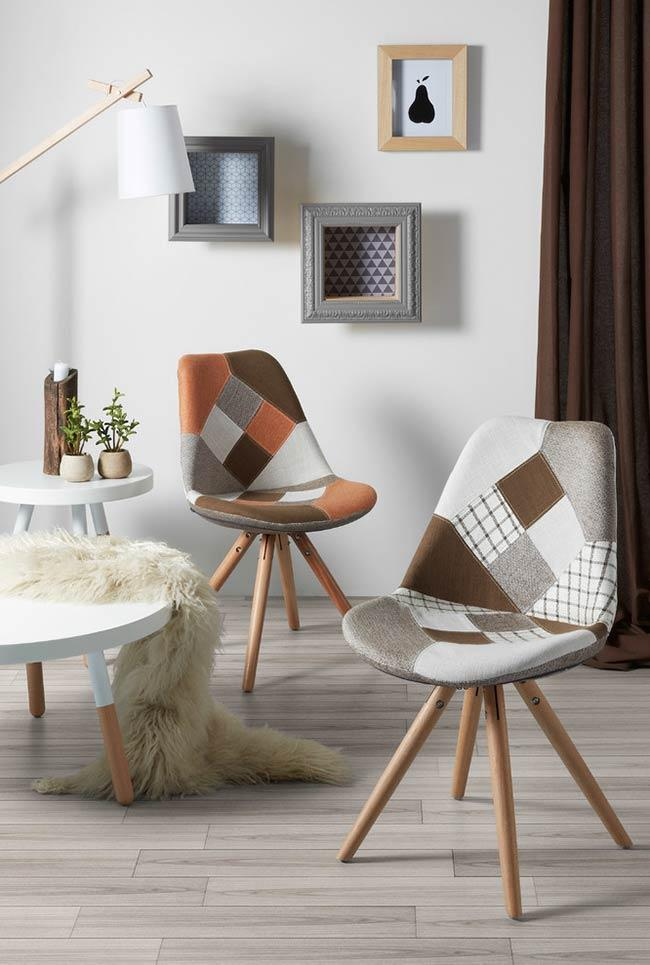 Charles Eames Chair with patchwork