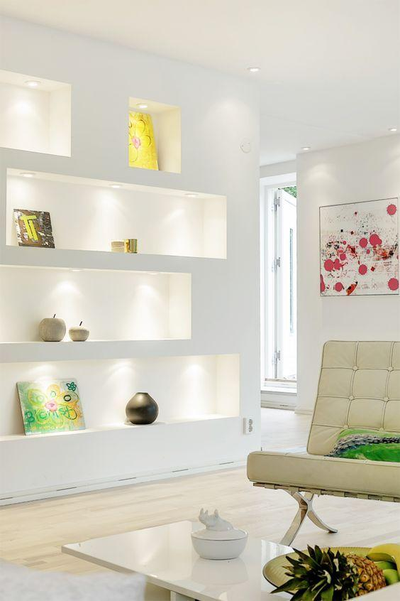 Plaster shelf: advantages and 60 projects to inspire 38
