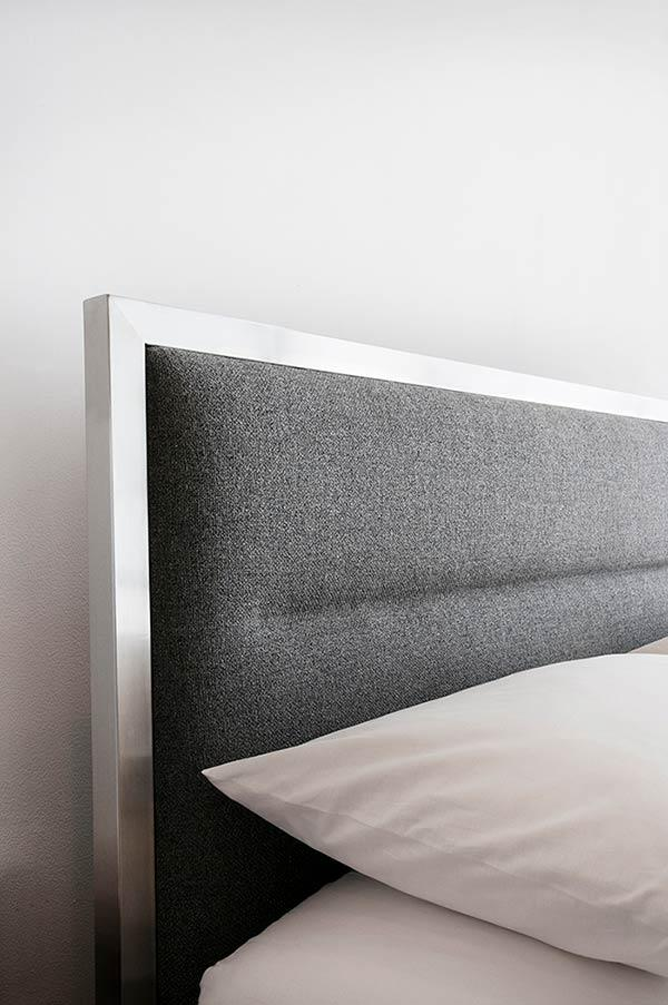 Upholstered headboard with frame