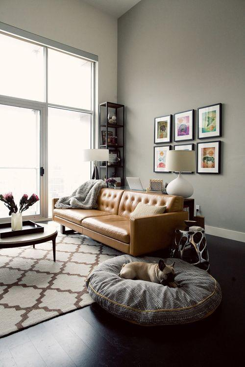 Leather sofa: 70 incredible models to decorate environments 12