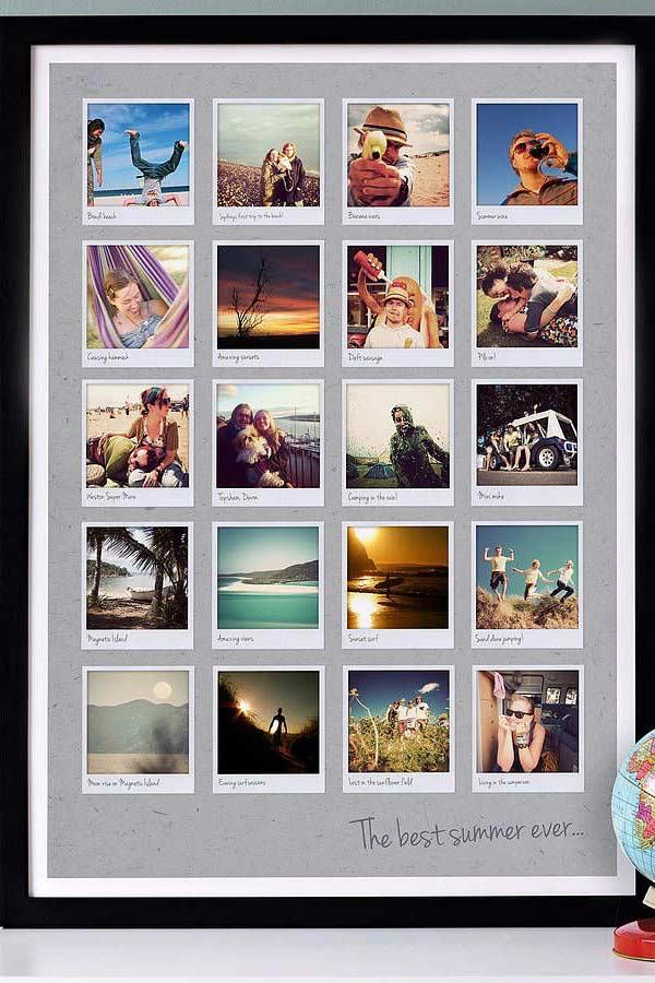 A great frame to organize your photos