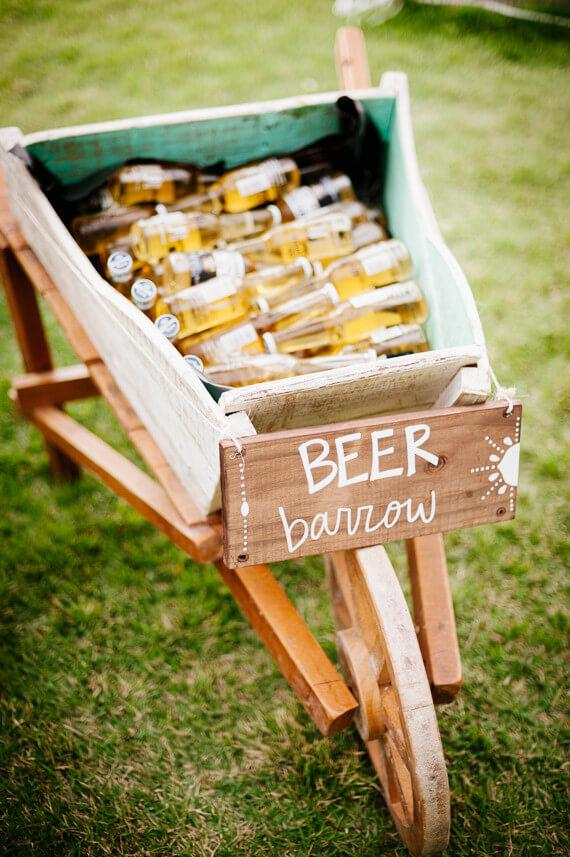 Simple Engagement Party: Beers Served in the Strollers