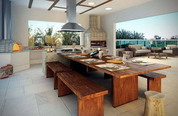 Prefabricated Barbecue with Gourmet Kitchen