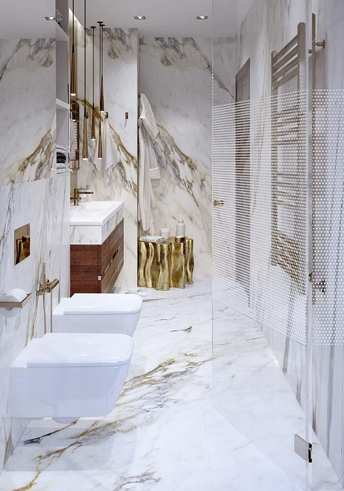 Golden Tones of Calacatta Oro makes the stone one of the most beautiful among the marbles