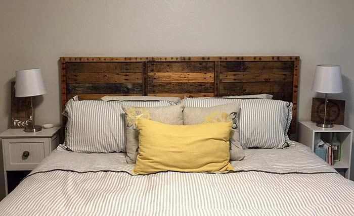 Pallet headboard: 60 creative ideas to use the item in the decoration 5