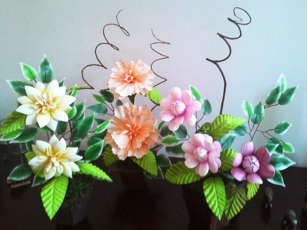 EVA Flowers: 70 ideas, templates and step-by-step 25