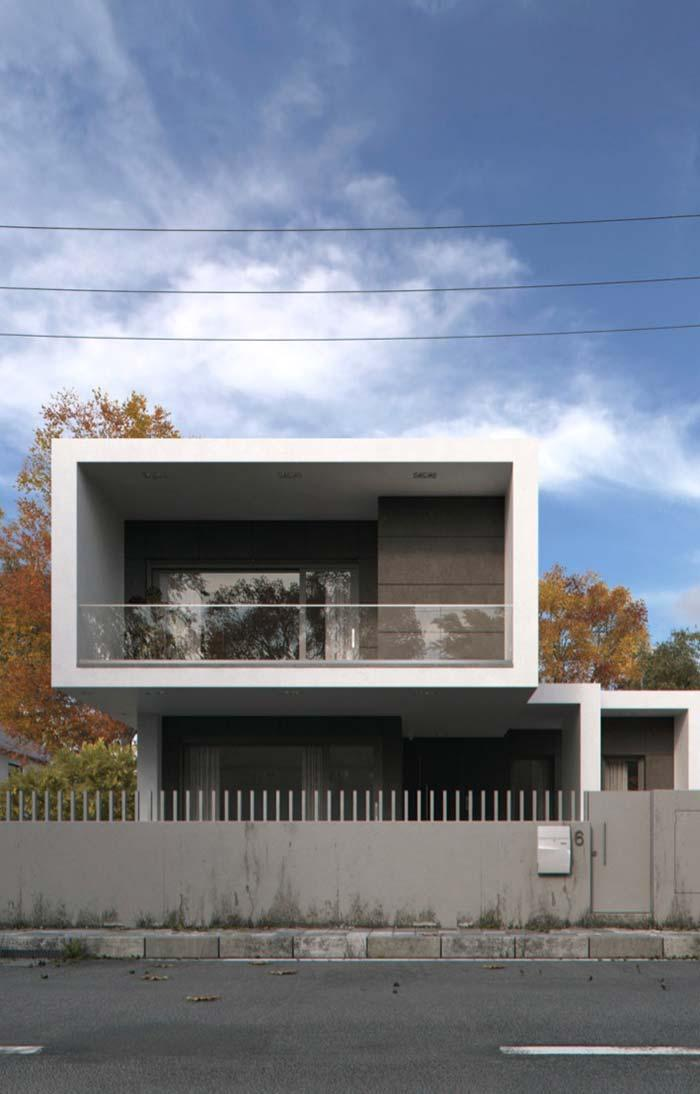 Modern house with iron gate