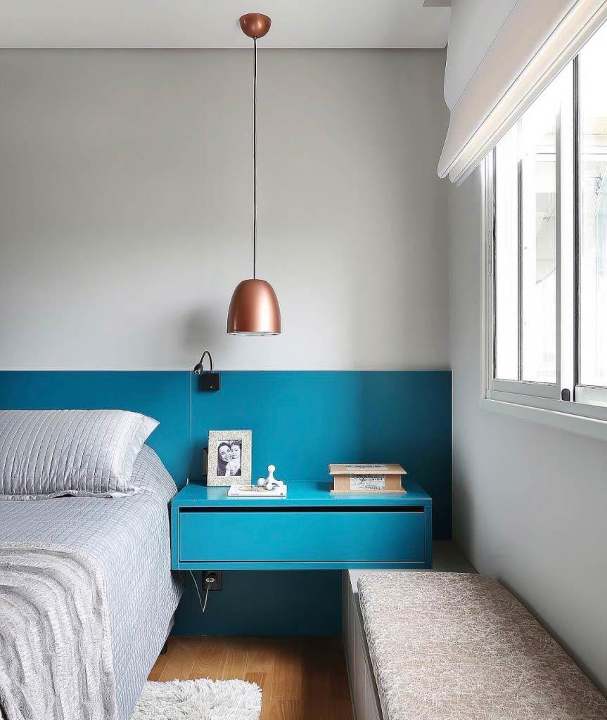 Room decoration with turquoise blue color