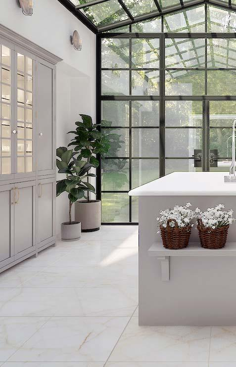 In internal areas the durability of Calacatta Oro Marble is higher