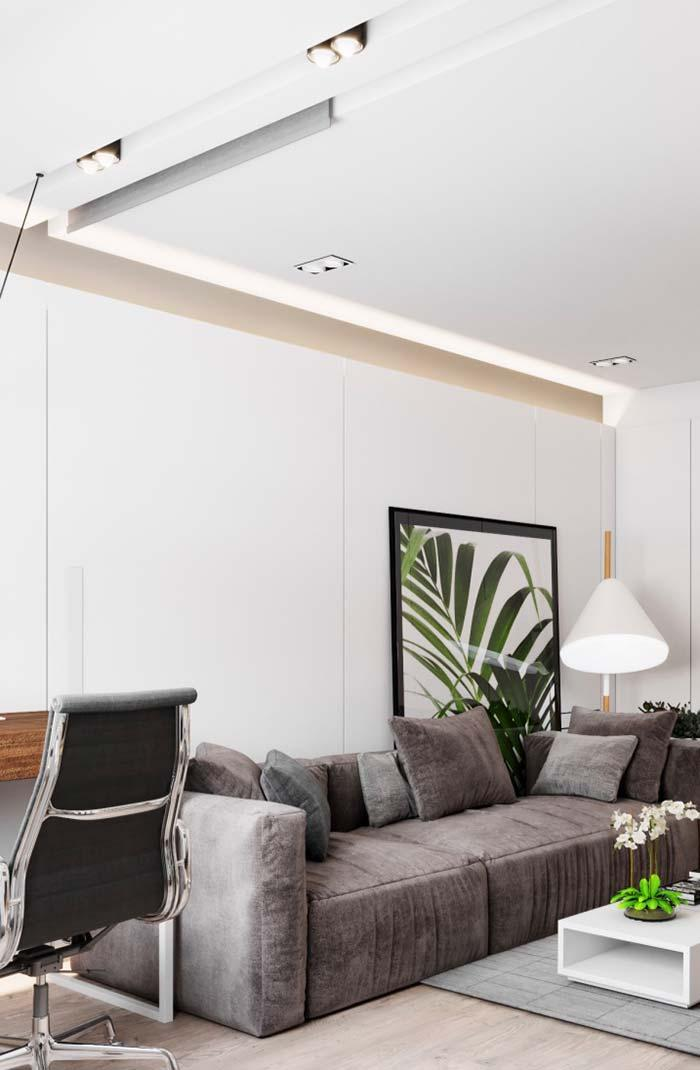In this project, the ceiling is on the ceiling and walls