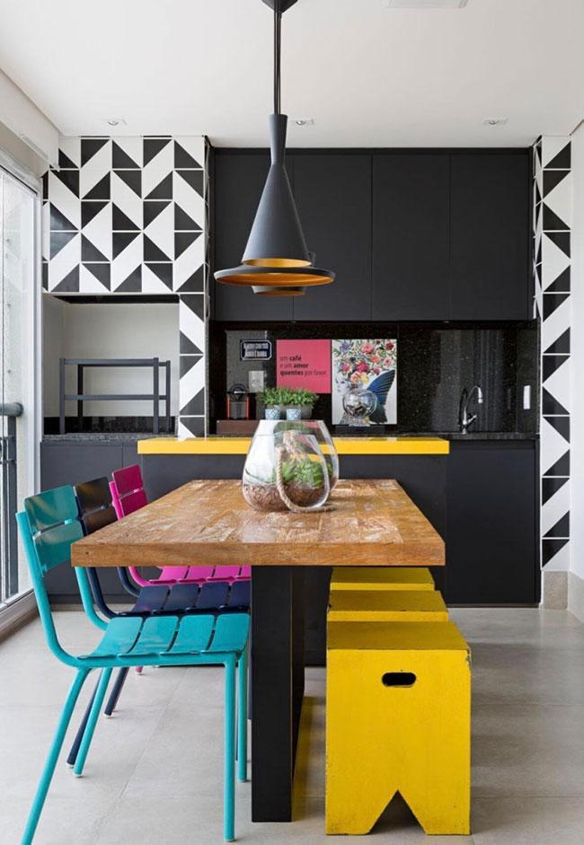 Colors that stand out on black background with black granite
