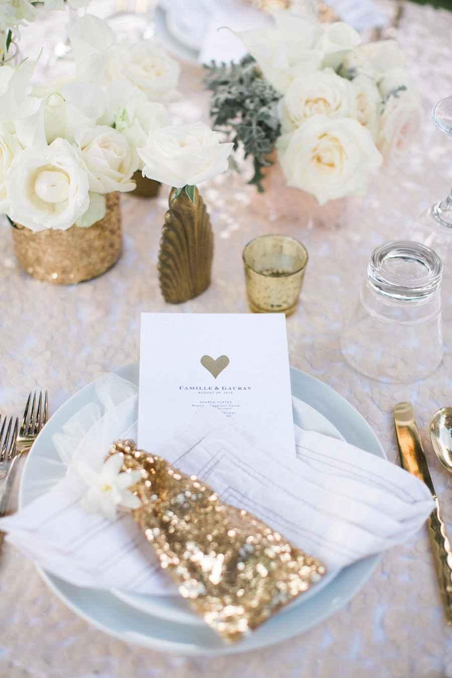 Golden wedding decoration: 60 ideas with photos to inspire 12