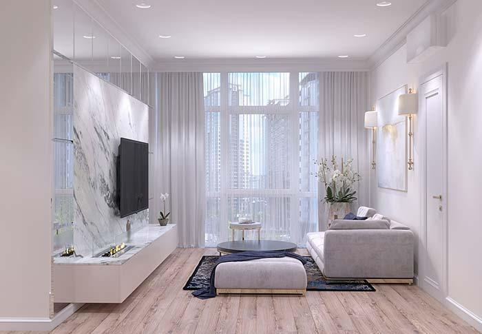 Sophisticated room with provencal touch