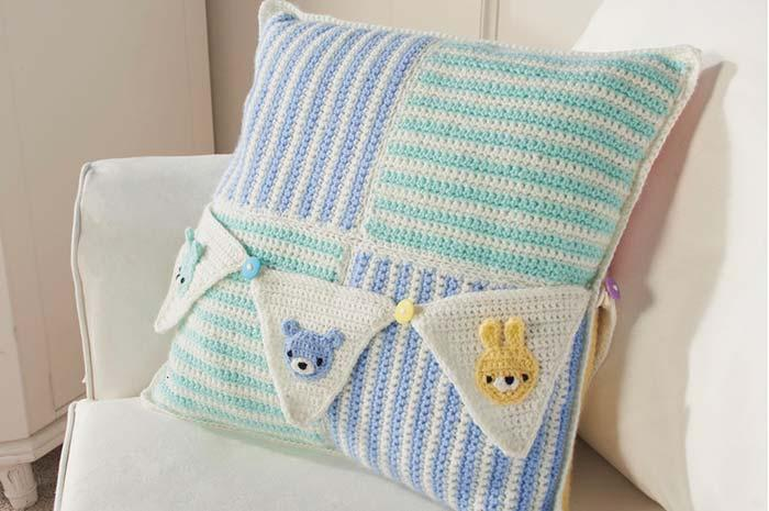 crochet cushion cover for baby room