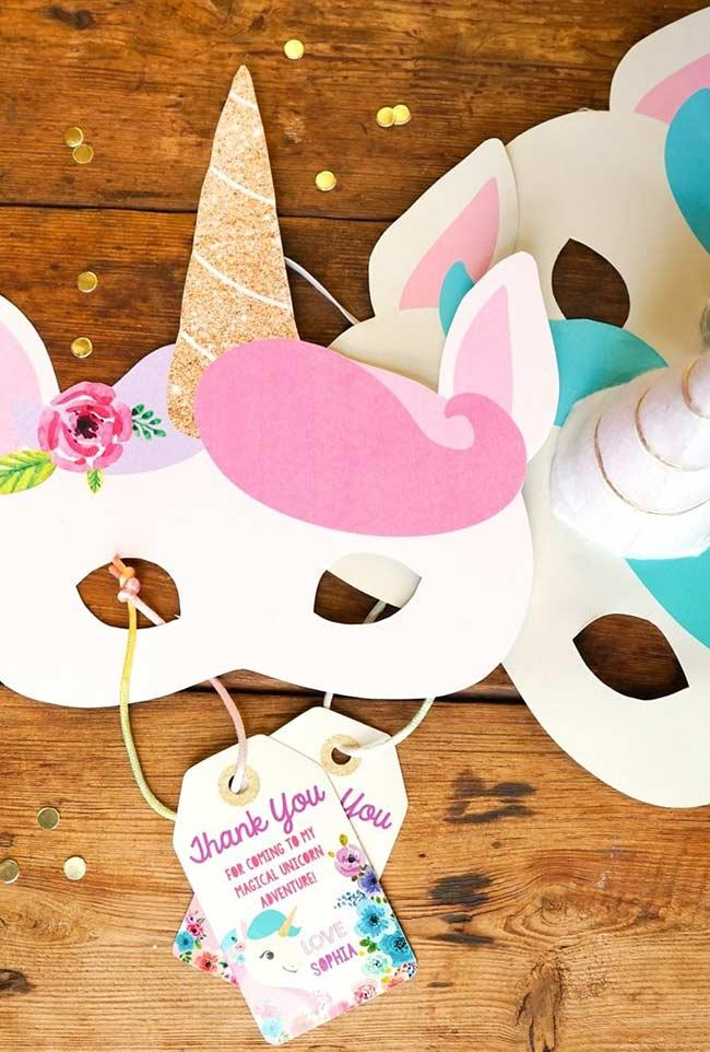 Paper masks to taste the before and after