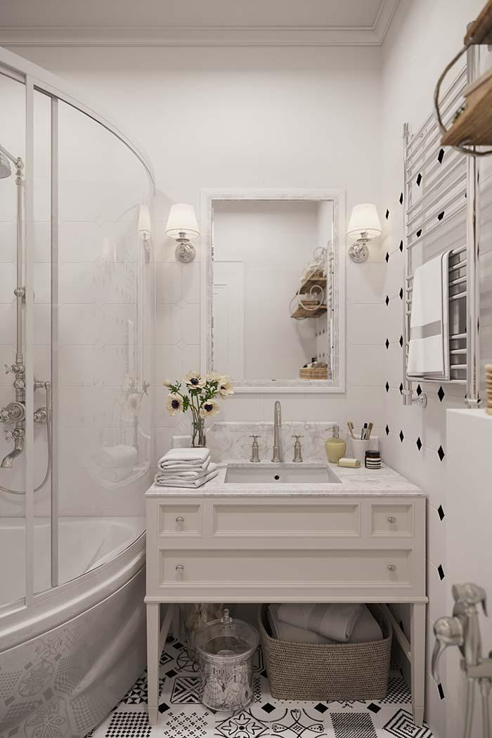 Provencal decoration in the bathroom
