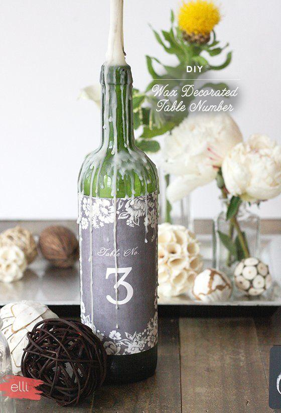 Table Top with Bottle: See Beautiful Ideas to Decorate the Table 19