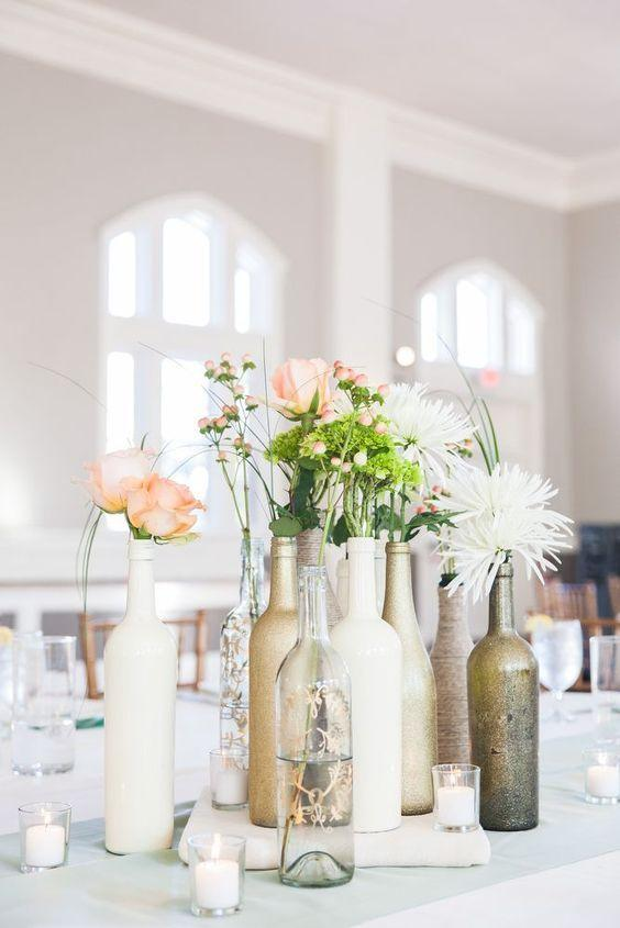 Table Top with Bottle: see beautiful ideas to decorate the table 12